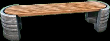С016 Скамейка на полутумбах