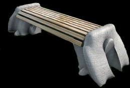 С017 Скамейка на подставках