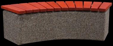 С025 Скамейка полукруглая