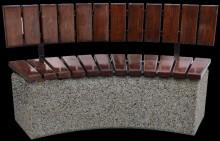 С026 Скамейка полукруглая со спинкой