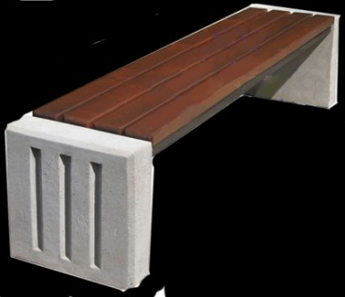 С023 Скамейка на опорах с выемками