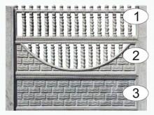 Ограждение бетонное 1-2-3